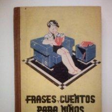 Libros de segunda mano: FRASES Y CUENTOS PARA NIÑOS. J. MATEO JIMÉNEZ AROCA. Lote 194642488