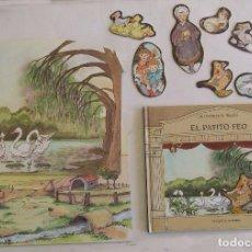 Libros de segunda mano: CAJA EL PATITO FEO SERIE SE LEVANTA EL TELON CIRCULO DE LECTORES HANS CHRISTIAN ANDERSEN . Lote 194713871