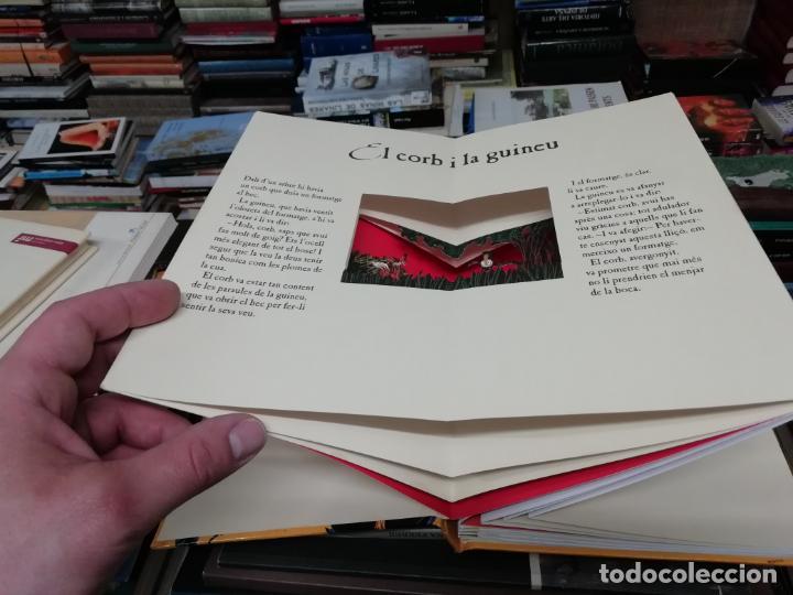 Libros de segunda mano: LES FAULES DE LA FONTAINE. IL·LUSTRACIONS DE DEDIEU . CRUÏLLA . 1ª EDICIÓ 2009. DESPLEGABLES. - Foto 3 - 195150860
