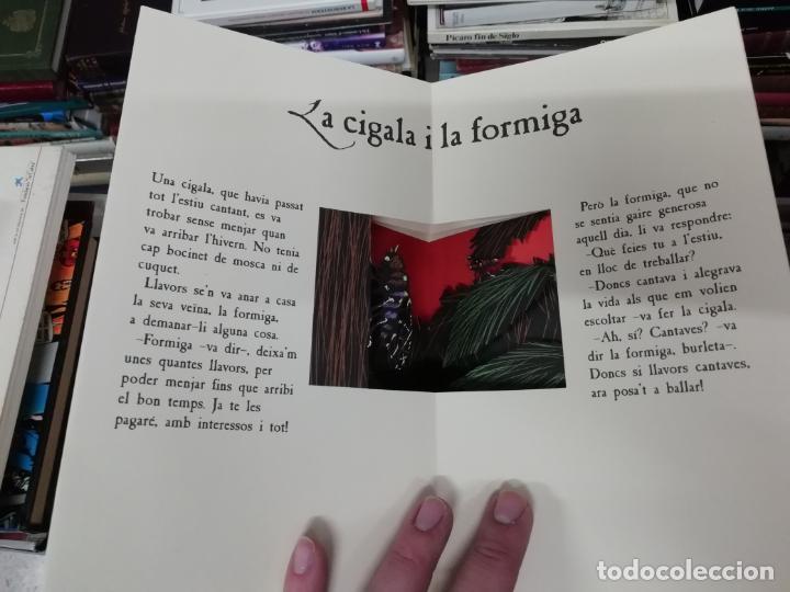 Libros de segunda mano: LES FAULES DE LA FONTAINE. IL·LUSTRACIONS DE DEDIEU . CRUÏLLA . 1ª EDICIÓ 2009. DESPLEGABLES. - Foto 4 - 195150860