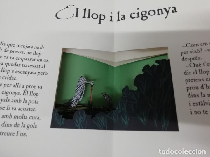 Libros de segunda mano: LES FAULES DE LA FONTAINE. IL·LUSTRACIONS DE DEDIEU . CRUÏLLA . 1ª EDICIÓ 2009. DESPLEGABLES. - Foto 5 - 195150860