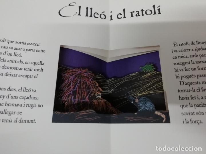 Libros de segunda mano: LES FAULES DE LA FONTAINE. IL·LUSTRACIONS DE DEDIEU . CRUÏLLA . 1ª EDICIÓ 2009. DESPLEGABLES. - Foto 6 - 195150860