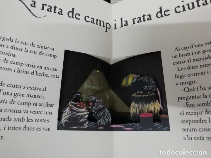 Libros de segunda mano: LES FAULES DE LA FONTAINE. IL·LUSTRACIONS DE DEDIEU . CRUÏLLA . 1ª EDICIÓ 2009. DESPLEGABLES. - Foto 7 - 195150860