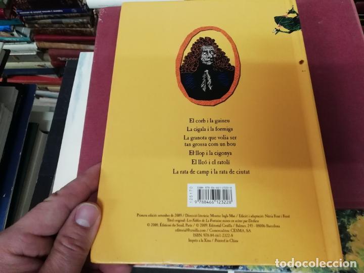 Libros de segunda mano: LES FAULES DE LA FONTAINE. IL·LUSTRACIONS DE DEDIEU . CRUÏLLA . 1ª EDICIÓ 2009. DESPLEGABLES. - Foto 8 - 195150860