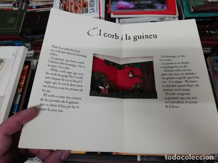 LES FAULES DE LA FONTAINE. IL·LUSTRACIONS DE DEDIEU . CRUÏLLA . 1ª EDICIÓ 2009. DESPLEGABLES. (Libros de Segunda Mano - Literatura Infantil y Juvenil - Cuentos)