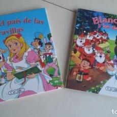 Libros de segunda mano: LOTE DOS LIBROS MINICLÁSICOS: ALICIA EN EL PAÍS DE... Y BLANCANIEVES. TODOLIBRO. TAPA DURA. Lote 195237517
