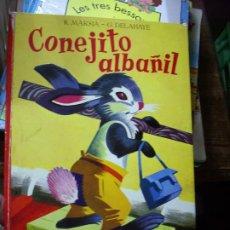 Libros de segunda mano: CONEJITO ALBAÑIL, R. MARSIA Y G. DELAHAYE. CO-34. Lote 195269918