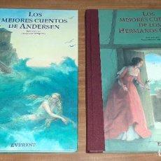 Libros de segunda mano: LIBROS DE GRAN TAMAÑO CON LOS MEJORES CUENTOS HERMANOS GRIMM Y ANDERSEN. EDITORIAL EVERST. 2001. Lote 195504706