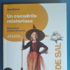 Libros de segunda mano: LIBRO UN COCODRILO MISTERIOSO ANA ALONSO ANAYA PIZCA DE SAL 2010. Lote 197153940