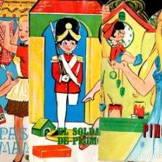 Libros de segunda mano: QUINCE TROQUELADOS VILMAR : PINOCHO, SOLDADITO DE PLOMO, BELLA DURMIENTE...(1971). Lote 197555180