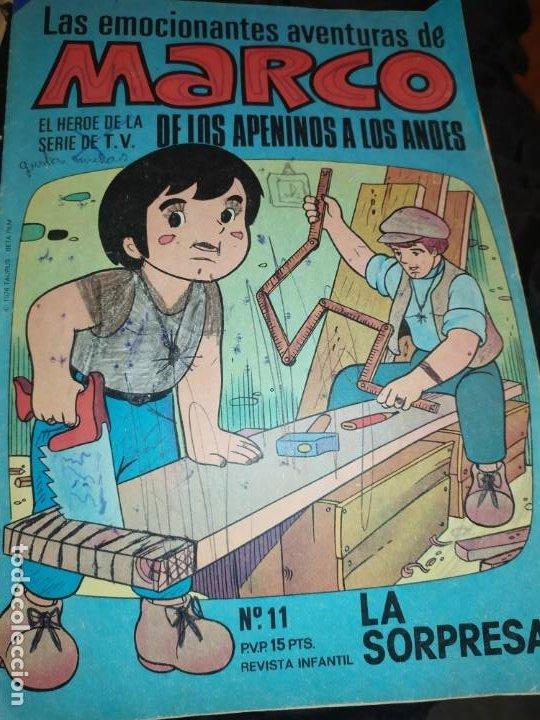 LAS EMOCIONANTES AVENTURAS DE MARCO N° 11 LA SORPRESA MIRE FOTOGRAFÍAS (Libros de Segunda Mano - Literatura Infantil y Juvenil - Cuentos)