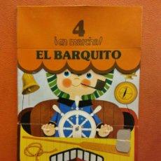 Livres d'occasion: EL BARQUITO. CUENTOS PARA APRENDER Y JUGAR. FIGURAS TROQUELADAS. NIKOLAS. RAMA EDITORIAL. Lote 199109427