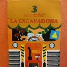 Livres d'occasion: LA EXCAVADORA. CUENTOS PARA APRENDER Y JUGAR. FIGURAS TROQUELADAS. NIKOLAS. RAMA EDITORIAL. Lote 199109641