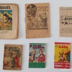 Libros de segunda mano: LOTE DE 6 PEQUEÑOS CUENTOS. LA DONCELLA AGRADECIDA, LA CASA, EL LEGADO DE UN PADRE.. VER FOTOS. Lote 199910790