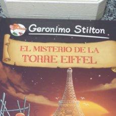 Libros de segunda mano: GERONIMO STILTON N°12 - EL MISTERIO DE LA TORRE EIFFEL . 1 RA EDICION 2013 PLANETA JUNIOR. Lote 200189035
