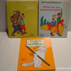 Libros de segunda mano: ALBERT - OTTO ES UN RINOCERONTE - SOFIE CUENTA HISTORIAS - ALFAGUARA INFANTIL Y JUVENIL AÑOS 80. Lote 202288173