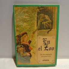Libros de segunda mano: EN EL ZOO UN LIBRO DESPLEGABLE PARA PONER DE PIE - ANAYA 1991. Lote 202288543