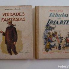 Libros de segunda mano: FABULAS DE IRIARTE - VERDADES Y FANTASÍAS - RAMÓN SOPENA - 1936 - CON ILUSTRACIONES EN B/N Y COLOR. Lote 202349587