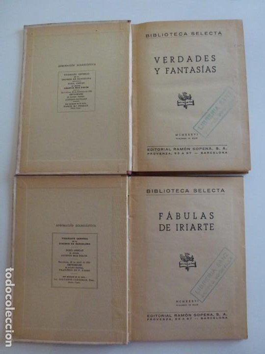 Libros de segunda mano: Fabulas de Iriarte - Verdades y Fantasías - Ramón Sopena - 1936 - Con ilustraciones en B/N y Color - Foto 3 - 202349587