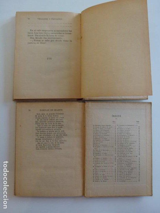 Libros de segunda mano: Fabulas de Iriarte - Verdades y Fantasías - Ramón Sopena - 1936 - Con ilustraciones en B/N y Color - Foto 4 - 202349587