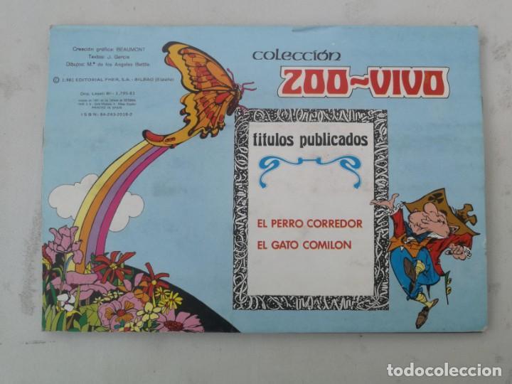 Libros de segunda mano: ANTIGUO Y PRECIOSO CUENTO EL GATO COMILÓN - EDICIONES LAIDA - COLECCION ZOO-VIVO - EN BUEN ESTADO - - Foto 4 - 203073325