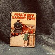 Libros de segunda mano: PUCK´S NEW RAILWAY BOOK COLLINS LIBRO INFANTIL INGLATERRRA FERROCARRIL TRENES AÑOS 20 15,5X11,5CMS. Lote 203462677