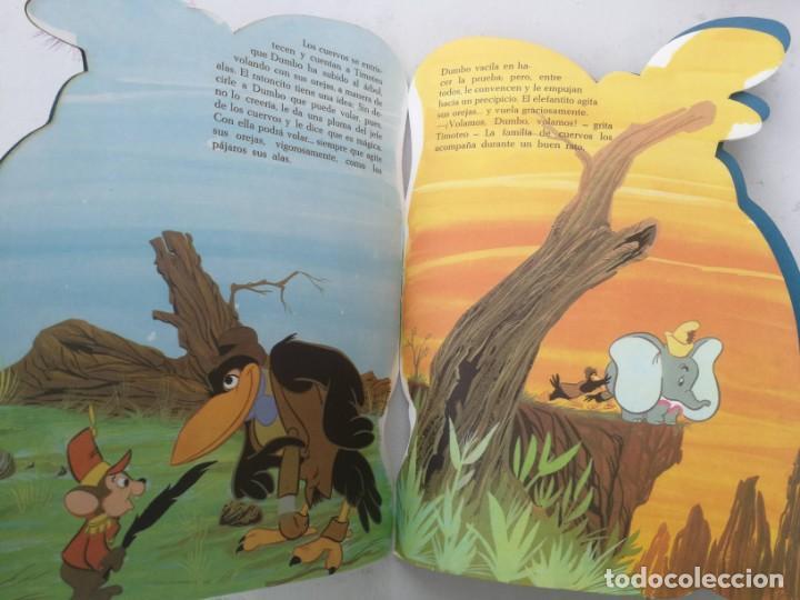 Libros de segunda mano: ANTIGUO Y PRECIOSO CUENTO TROQUELADO DE WALT DISNEY - DUMBO - EDIGRAF Nº 64 - 1971 - CON SU PLUMA OR - Foto 2 - 203529002