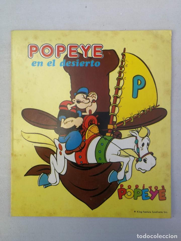 ANTIGUO Y PRECIOSO CUENTO DESPLEGABLE - POPEYE EN EL DESIERTO - EDITORIAL ROMA - 1975 - POPITOS POPE (Libros de Segunda Mano - Literatura Infantil y Juvenil - Cuentos)