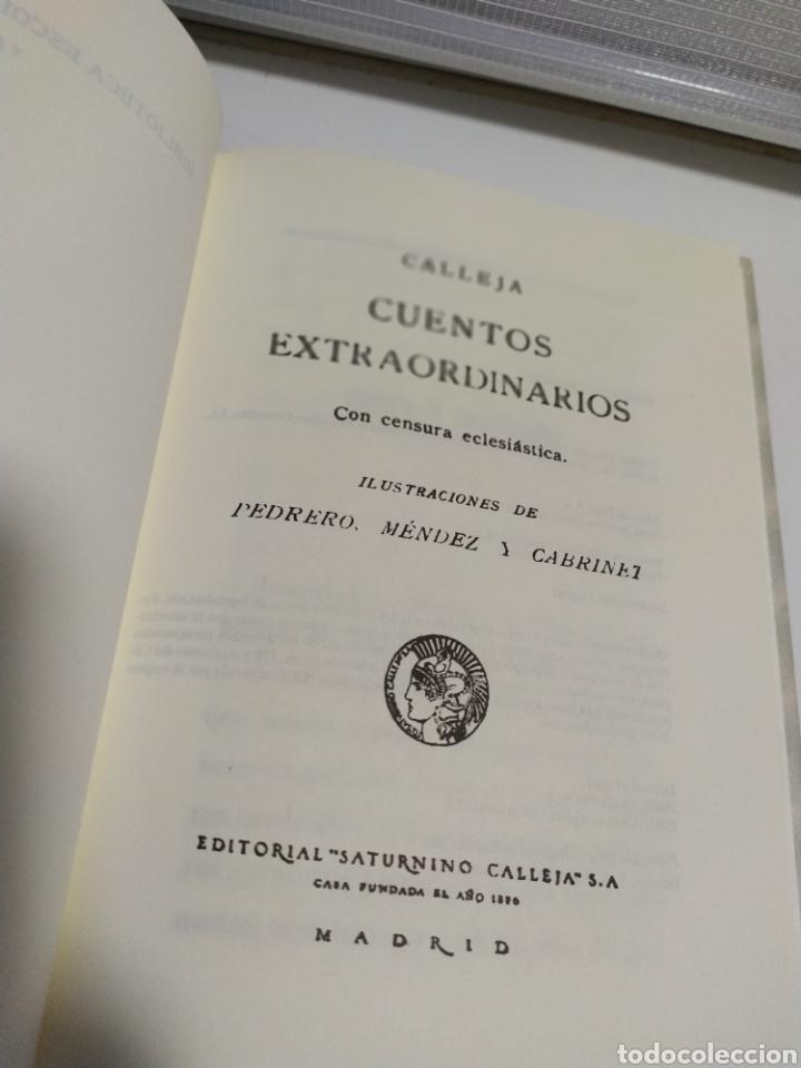 Libros de segunda mano: CUENTOS EXTRAORDINARIOS - S. CALLEJA - EDAF - FACSIMIL 2004 - 123 PAGINAS - Foto 3 - 204422481