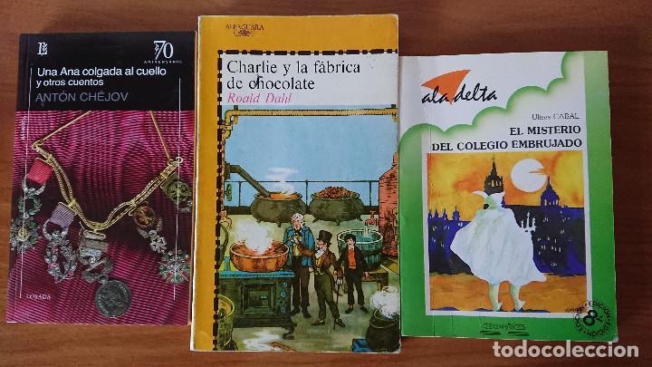 UNA COLGADA AL CUELLO Y OTROS CUENTOS ;CHARLIE Y LA FÁBRICA DE CHOCOLATE; EL MISTERIO DEL COLEGIO EM (Libros de Segunda Mano - Literatura Infantil y Juvenil - Cuentos)