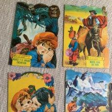 Libros de segunda mano: MARCO , CUENTOS TROQUELADO , DE LOS APENINOS A LOS ANDES - LOTE DE 4 EJEMPLARES , EDITA : TORAY 1977. Lote 14594905