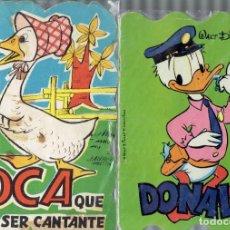 Libros de segunda mano: RETALLATS DONALD N,8 Y LA OCA QUIERE SER CANTANTE EDICIONES REDILLA Y BRUGUERA 1963 Y 1984. Lote 206295213