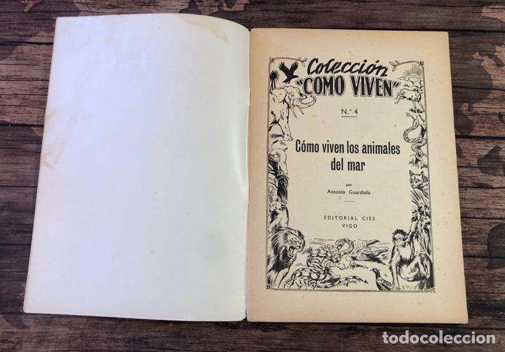 Libros de segunda mano: COLECCION COMO VIVEN, COMO VIVEN LOS ANIMALES EN EL MAR, NUMERO 4, (EDITORIAL CIES, VIGO) - Foto 2 - 206325546