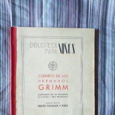 Libros de segunda mano: CUENTOS DE LOS HERMANOS GRIMM ILUSTRADOS 26 GRABADOS PEDRO PEDRAZA RAMÓN SOPENA 1942. Lote 206947636