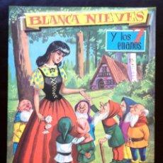 Libros de segunda mano: CUENTO CUENTOS POPULARES BLANCANIEVES Y LOS 7 ENANITOS ED VASCO AMERICANA GRANDES ALBUMES EVA. Lote 209056705
