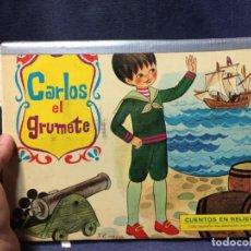 Libros de segunda mano: POP UP CARLOS EL GRUMETE CUENTOS EN RELIEVE REFUERZO VER FOTOS 20X27CMS. Lote 210761485