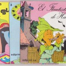 Libros de segunda mano: EDIPRINT. LOTE DE 4 CUENTOS (17,5X17,5 CMS. 10 PÁGINAS) Nº 1, 3,5 Y 6. Lote 210959056