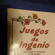 Libros de segunda mano: UEGOS DE INGENIO TAPA BLANDA – 1 ENERO 1989 DE JAVIER TAPIA RODRÍGUEZ (AUTOR). Lote 212812668