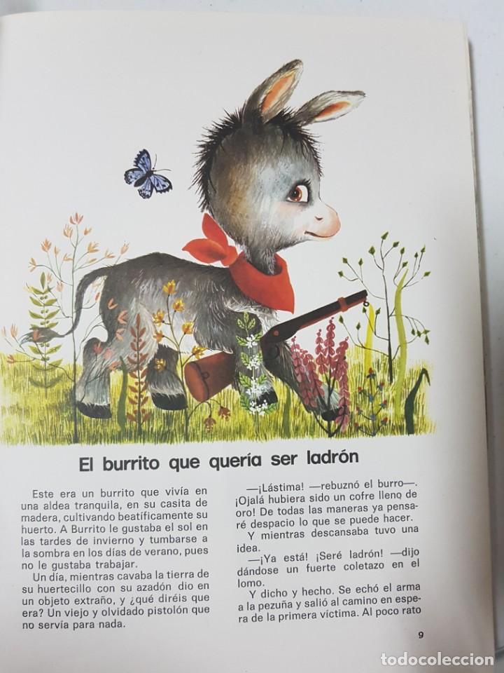 Libros de segunda mano: El Burrito Ladrón y 40 Cuentos Más. Álbum en Tapas Duras Ilustrado por Concha Matamoros. 138 páginas - Foto 2 - 215128282