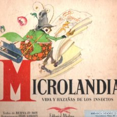 Libros de segunda mano: MICROLANDIA VIDA Y HAZAÑAS DE LOS INSECTOS (ALBATROS 1946). Lote 215466402