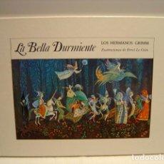 Libros de segunda mano: LA BELLA DURMIENTE - HERMANOS GRIMM - ERROL LE CAIN - ASURI 1983. Lote 216932760