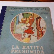 Libros de segunda mano: LA RATITA PRESUMIDA, CUENTO.. Lote 217202048