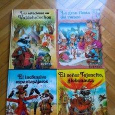 Libri di seconda mano: VALDEHELECHOS DE JOHN PATIENCE: ESTACIONES, SEÑOR TEJONCITO, INOFENSIVO ESPANTAPÁJAROS, GRAN FIESTA. Lote 217476952