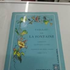 Libri di seconda mano: FABULAS DE LA FONTAINE FACSIMIL 1885 MONTANER Y SIMON ED. TIRADA LIMITADA. Lote 217716591