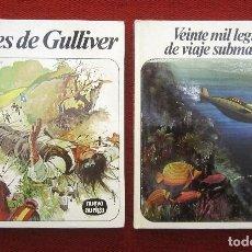 Libros de segunda mano: 2 CUENTOS: JULIO VERNE - GULLIVER Y 20.000 LEGUAS. Lote 217766092