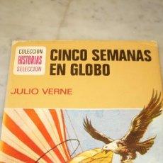 Libros de segunda mano: PRPM 77 BRUGUERA ILUSTRADO, HISTORIAS SELECCIÓN , JULIO VERNE, CINCO SEMANAS EN GLOBO. Lote 218271842