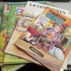 Libros de segunda mano: CUENTOS ANTIGUOS / LOTE CON 27 CUENTOS: CENICIENTA, CAPERUCITA, LA RATITA PRESUMIDA, BLANCA NIEVES... Lote 218619272