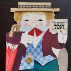 Libros de segunda mano: CUENTO TROQUELADO - EL VALIENTE TONI - TEXTO Y DIBUJOS DE JUAN FERRÁNDIZ - LIBRO PARA NIÑOS. Lote 218738827