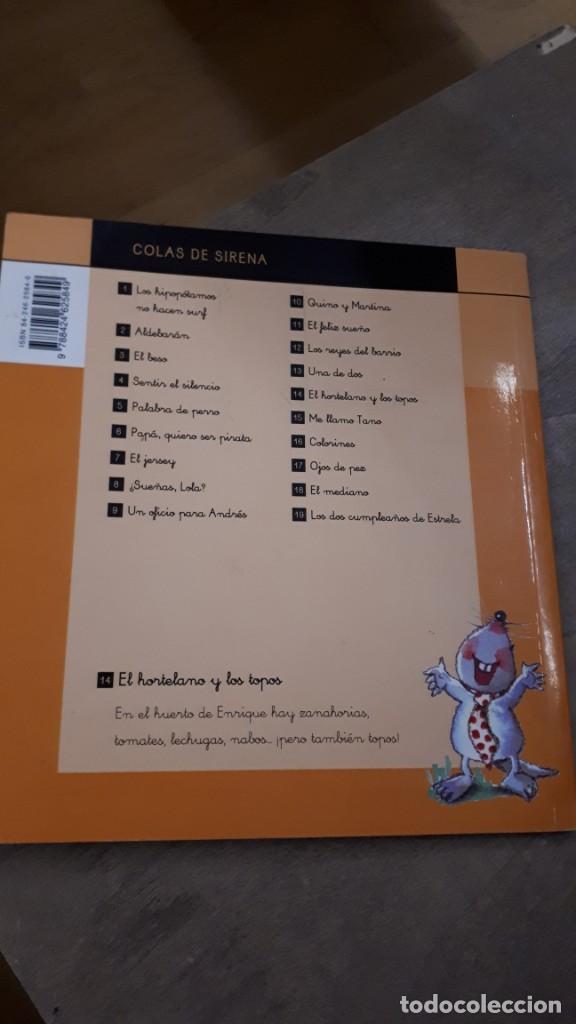 Libros de segunda mano: El Hortelano y los topos - Mercé Escardó - Foto 2 - 218782098