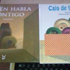 Libros de segunda mano: 2 LIBROS INFANTILES:QUIÉN HABLA CONTIGO (PIRULETRAS)Y CAJA DE BOTONES TOROMITICO. PRIMERAS EDICIONES. Lote 220975793